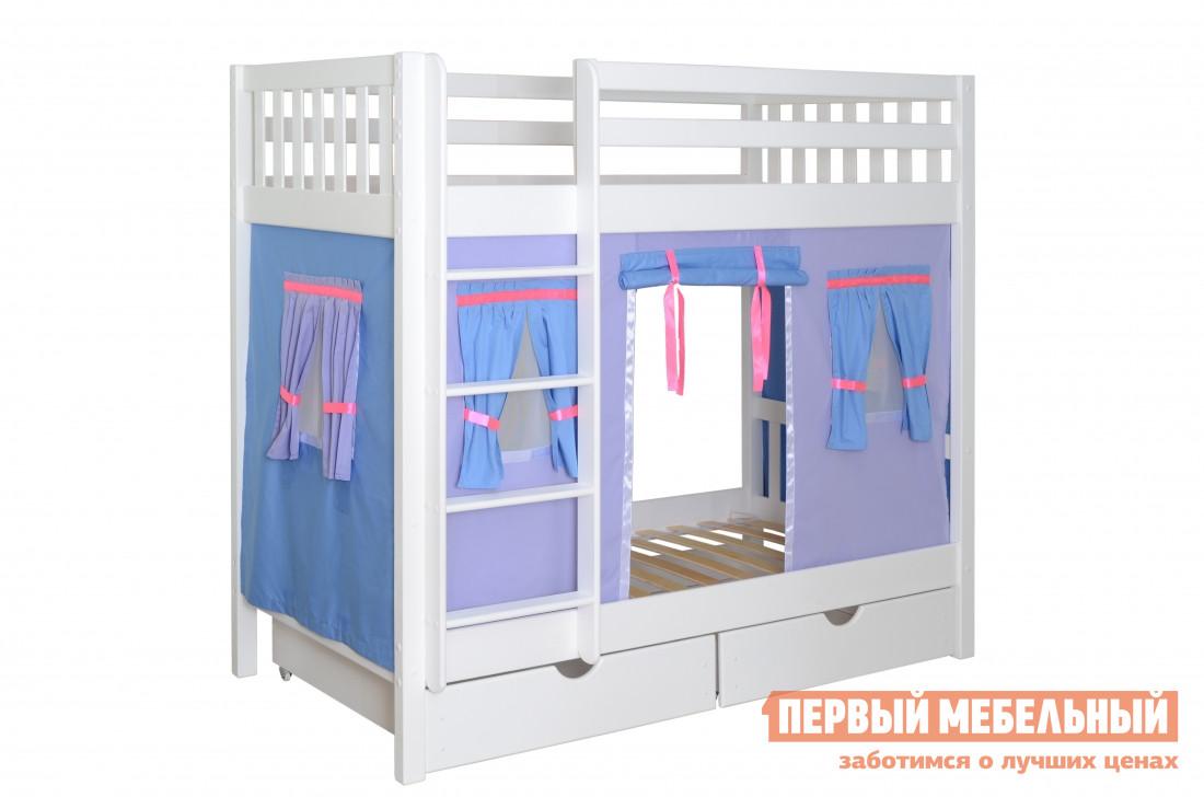 Детская двухъярусная кровать-домик Мебель-Холдинг Галчонок-2 кровать двухъярусная олимп мебель адель 3