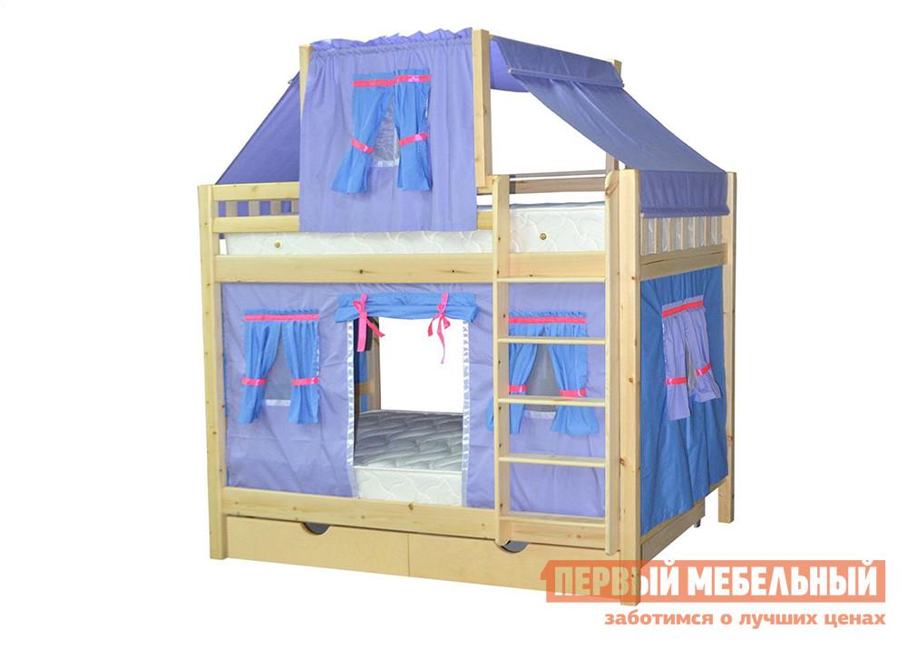 Двухъярусная кровать-домик для детей Мебель-Холдинг Скворушка-3
