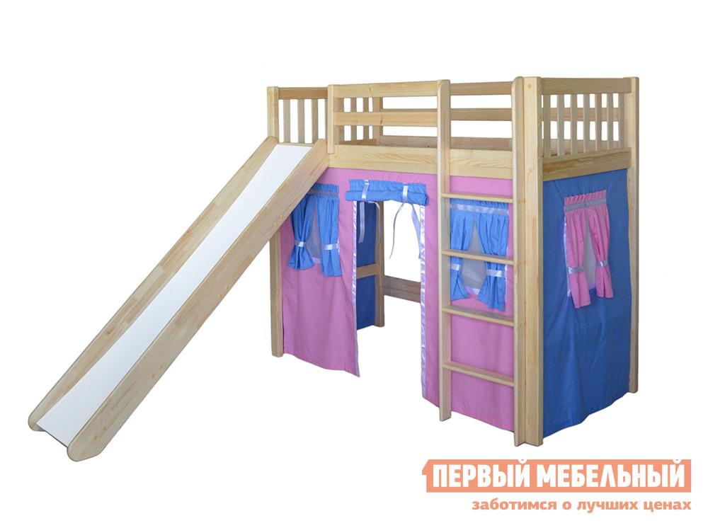 Кровать-чердак домиком из массива дерева Мебель-Холдинг Трубадур-3 кровать чердак сканд мебель леди 4