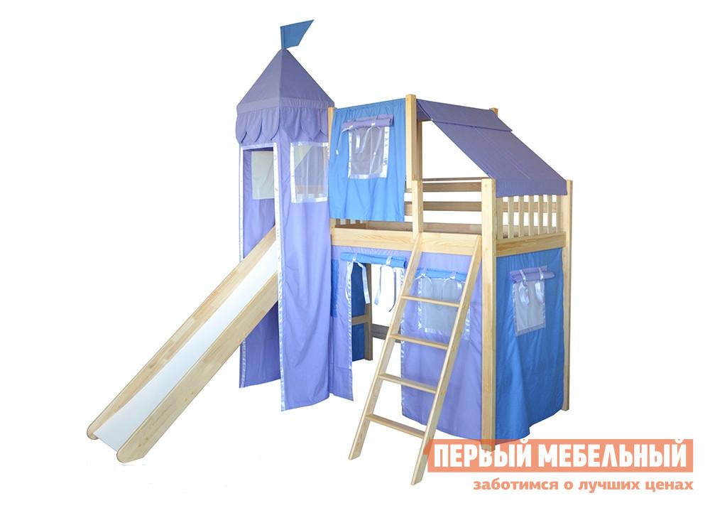 Детская кровать-чердак домиком из массива сосны Мебель-Холдинг Рыцарь-4 капитан детская и взрослая модульная мебель мдф