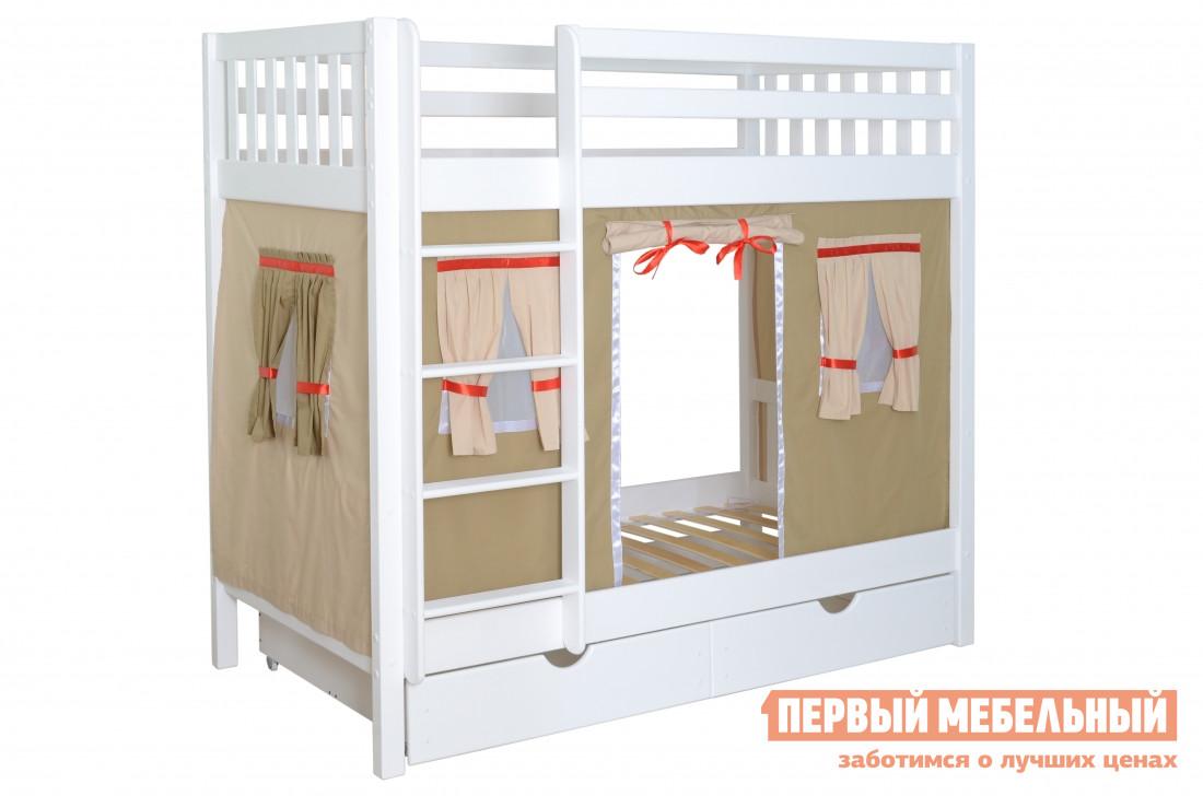Двухъярусная кровать со шторками Мебель-Холдинг Галчонок bronze gym u801 lc