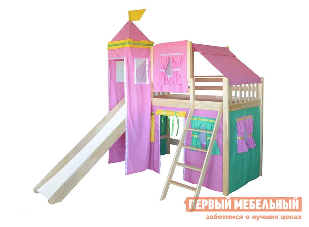 Детская кровать-чердак домик из массива сосны Мебель-Холдинг Рыцарь-2 капитан детская и взрослая модульная мебель мдф