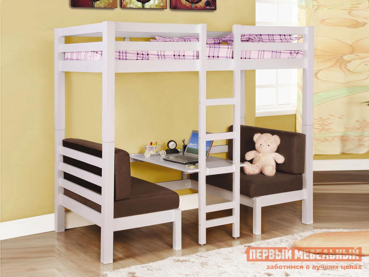 Двухэтажная кровать-чердак с рабочим местом Мебель-Холдинг Друзья кровать чердак сканд мебель леди 4