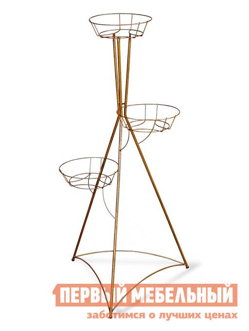 Цветочница Sheffilton Колонна трехгоршковая (3015) Бронзовый антик