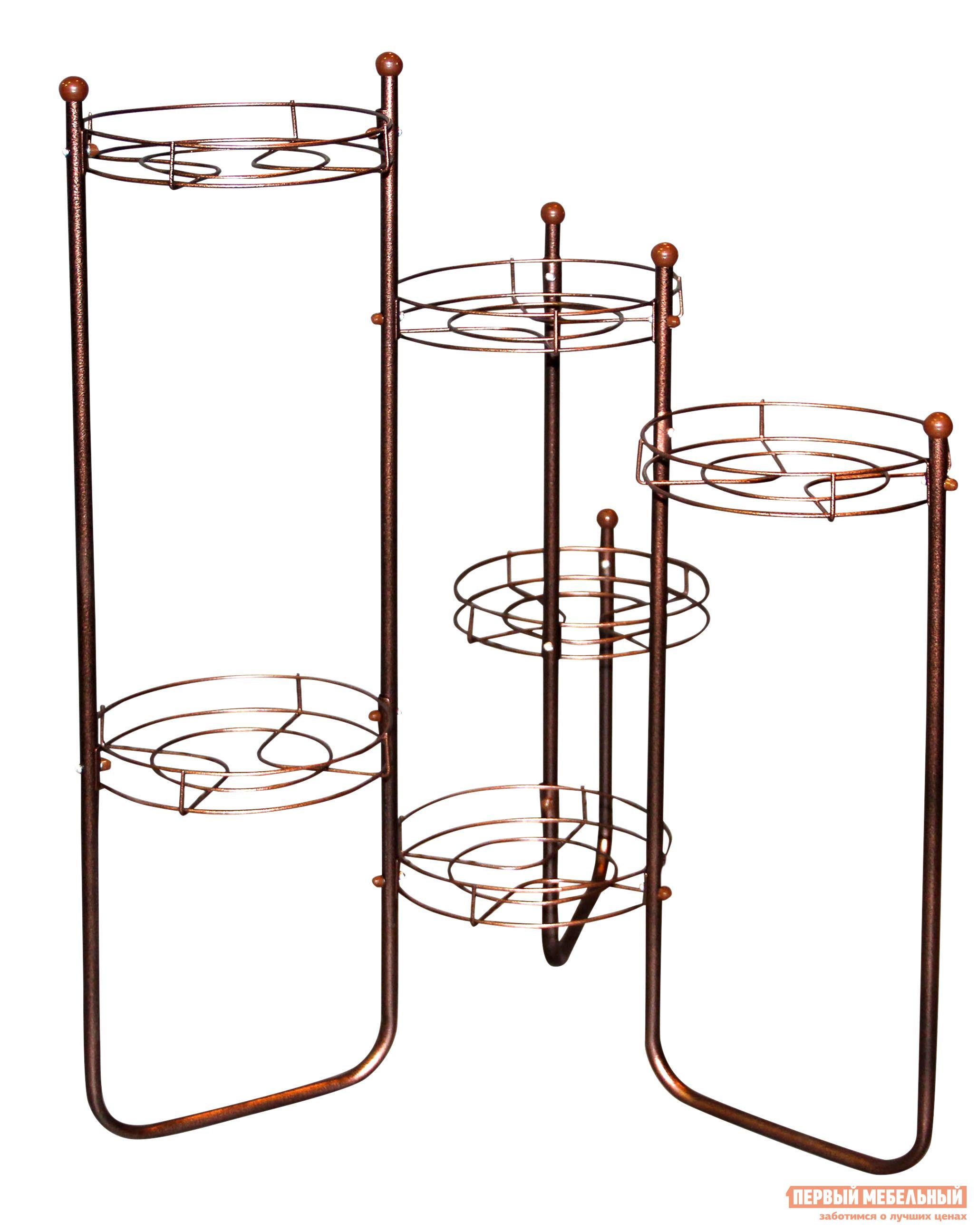 Цветочница Sheffilton Каскад 3 (ПД2-2-7) Медный / Коричневый
