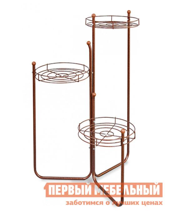 Цветочница Sheffilton Каскад 2Б (ПД2-2-6) Медный / Коричневый