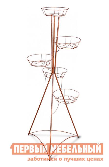 Цветочница Sheffilton Колонна пятигоршковая (5017) Медный антик