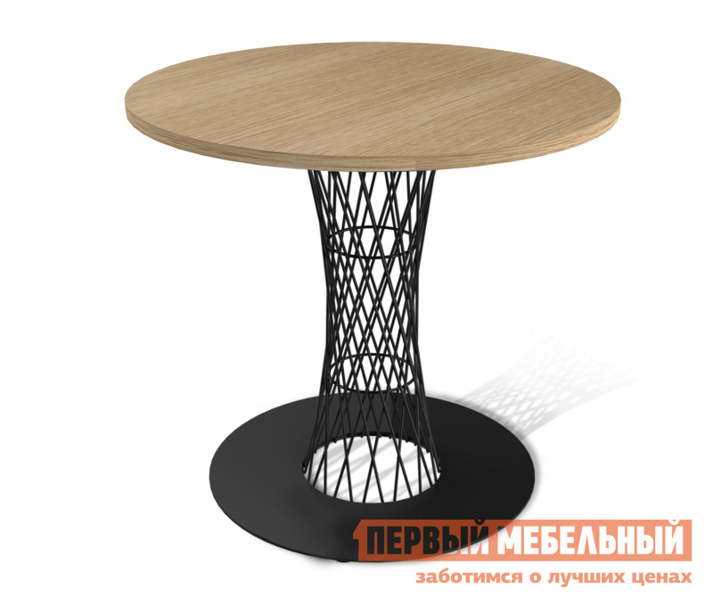 Кухонный стол Sheffilton SHT-ТU3 + SHT-TT 80 ЛДСП Черный / Дуб беленый