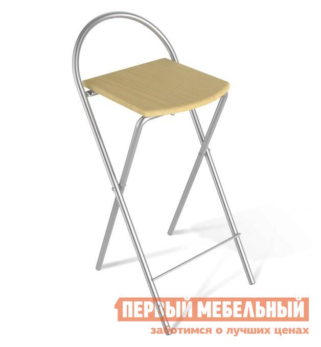 Барный стул Sheffilton SHT-S61 Бук / Ал. металликБарные стулья<br>Габаритные размеры ВхШхГ 835x365x400 мм. Складной барный стул — практичное решение для небольших квартир.  Прочный металлический каркас обеспечит устойчивость и надежность. Размеры стула в сложенном виде составляют (ВхШхГ): 975х365х40 ммРазмеры сидения (ШхГ): 320х340 ммВысота спинки составляет 165 ммРасстояние от пола до сидения — 680 ммРасстояние от перекладины до сидения — 510 ммРасстояние от пола до перекладины — 160 ммМаксимальная нагрузка на стул составляет 100 кгКаркас стула изготовлен из металлической трубы с порошковой окраской, диаметром 20 мм.  Сиденье — из МДФ толщиной 16 мм.<br><br>Цвет: Светлое дерево<br>Высота мм: 835<br>Ширина мм: 365<br>Глубина мм: 400<br>Форма поставки: В разобранном виде<br>Срок гарантии: 2 года<br>Тип: Складные<br>Тип: Для кухни<br>Тип: Нерегулируемые<br>Тип: Высота сиденья от 800мм<br>Материал: Металл<br>Материал: Дерево<br>Форма: Квадратные<br>С жестким сиденьем: Да<br>Без подлокотников: Да<br>Со спинкой: Да<br>С четырьмя ножками: Да