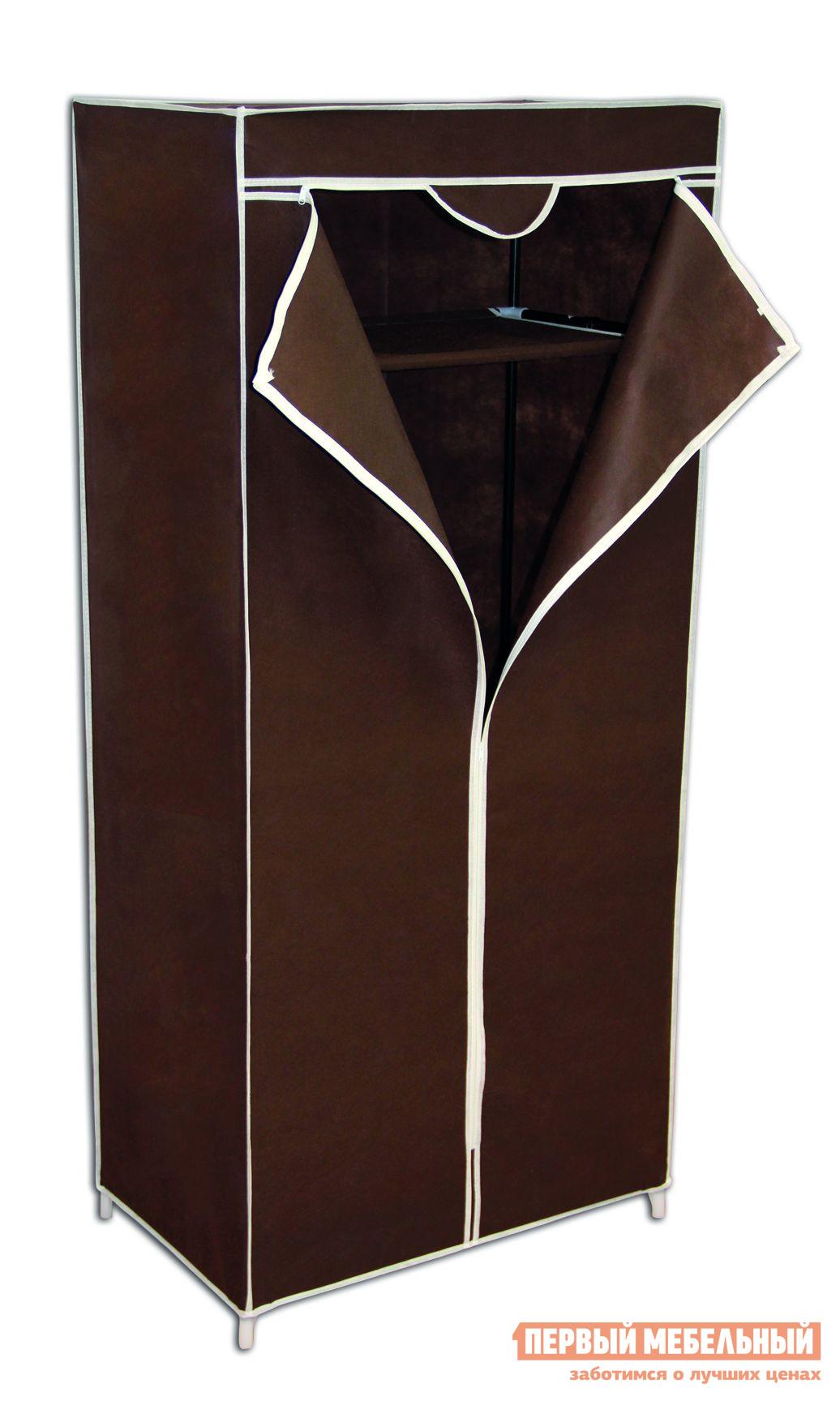 Гардеробная вешалка Sheffilton SHT-WR2012 КоричневыйГардеробные вешалки<br>Габаритные размеры ВхШхГ 1550x700x440 мм. Гардеробная вешалка в чехле — оригинальное и практичное решение для хранения ваших вещей.  Чехол надежно защищает одежду от пыли, грязи и влаги.  Разнообразие оттенков поможет подобрать модель, подходящую по вкусу и под интерьер. Каркас выполнен из металлических трубок и пластиковых соединительных крепежей.  Вешалка оснащена промежуточной полкой из плотного нетканого материала.  Под полкой предусмотрена металлическая штанга для вешалок.  Чехол закрывается а молнию. Максимальная нагрузка на вешалку — 13 кг, на полку — 3 кг.<br><br>Цвет: Коричневый<br>Цвет: Коричневый<br>Высота мм: 1550<br>Ширина мм: 700<br>Глубина мм: 440<br>Кол-во упаковок: 1<br>Форма поставки: В разобранном виде<br>Срок гарантии: 2 года<br>Материал: Металлические<br>Особенности: Дешевые