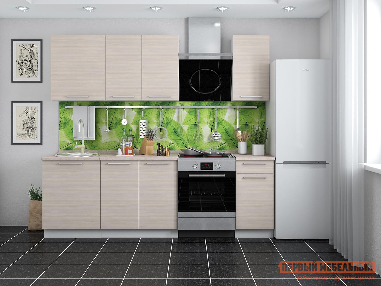 Кухонный гарнитур Мебель Плюс Барселона 1,8 Ясень Шимо светлый кухонный гарнитур мегаэлатон флорида 2000 х 1300 белый венге светлый рифленый гранит