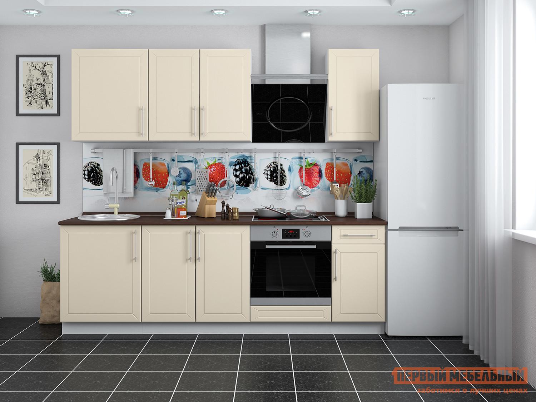 Кухонный гарнитур Мебель Плюс Светлана 2,4 Топленое молоко кухонный гарнитур трия фэнтези 120 см