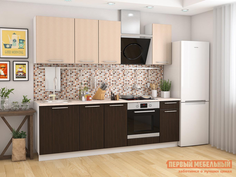 Кухонный гарнитур Мебель Плюс Ректа 2,4 Венге-Дуб млечный кухня угловая беларусь 2 млечный дуб левая