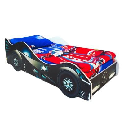 Кровать-машина Бельмарко Бэтмобиль Черный, Без матраса