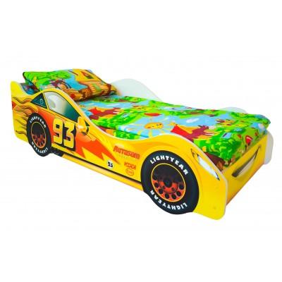 Кровать-машина Бельмарко Тачка Желтый