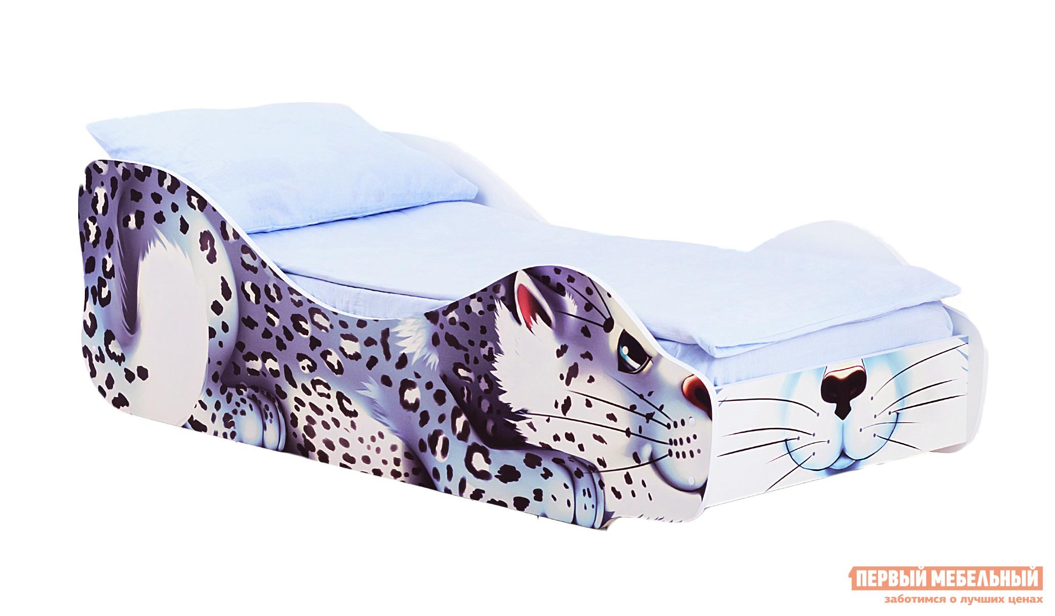 Фото Кровать-машина Бельмарко Барс Снежок Белый, С матрасом. Купить с доставкой