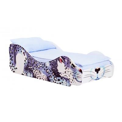 Кровать-машина Бельмарко Барс Снежок Белый, Без матраса