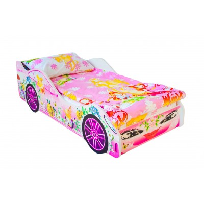 Кровать-машина Бельмарко Фея Розовый