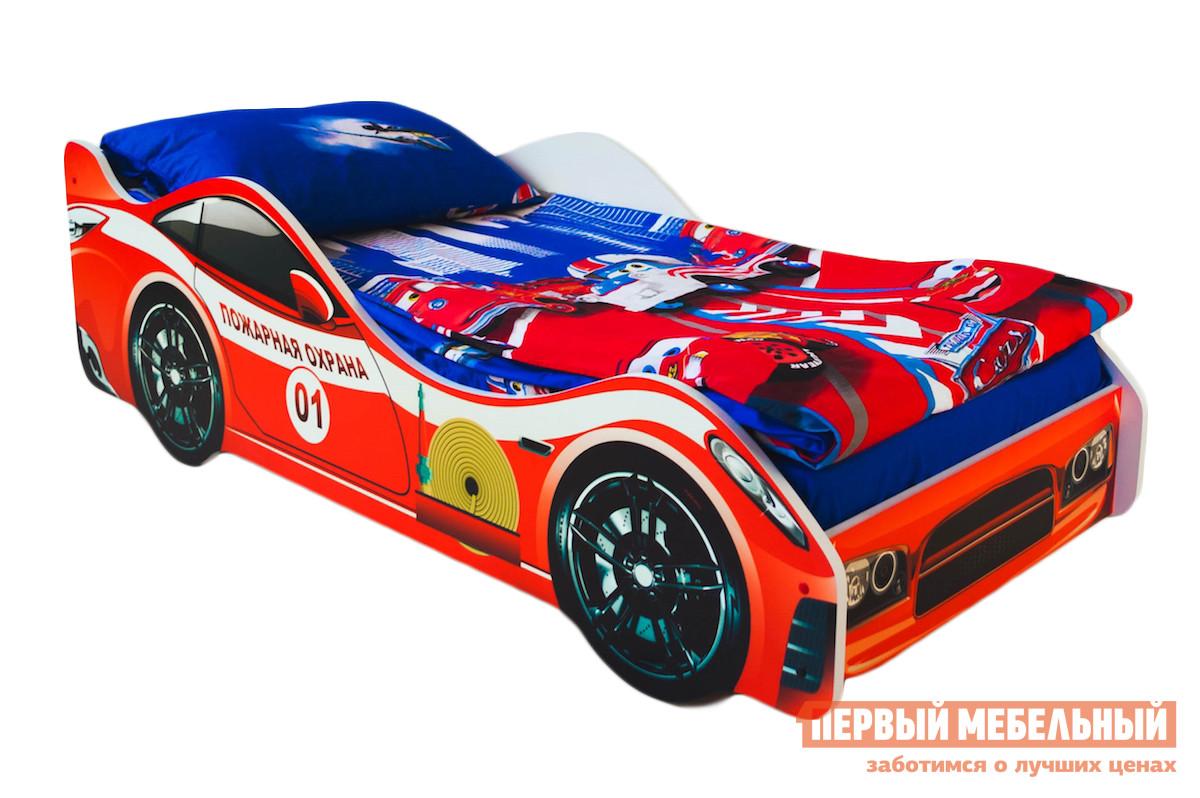 Кровать-машина Бельмарко Пожарная охрана Красный, Без матраса