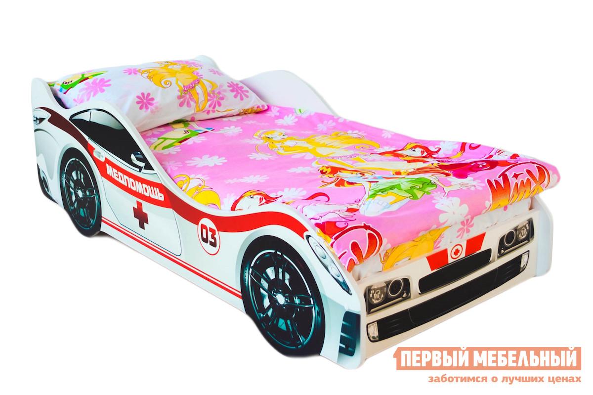Фото Кровать-машина Бельмарко Медпомощь Белый, С матрасом. Купить с доставкой