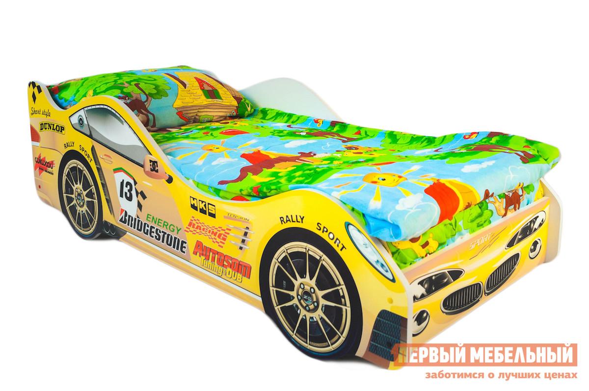 Детская кровать-машина с матрасом Бельмарко Пламя