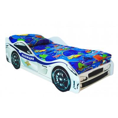 Кровать-машина Бельмарко Полиция Белый