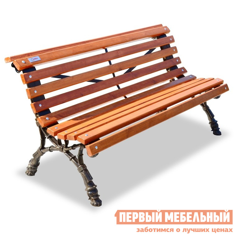 Скамейка чугунная садовая Хоббика Новая Европа скамейка