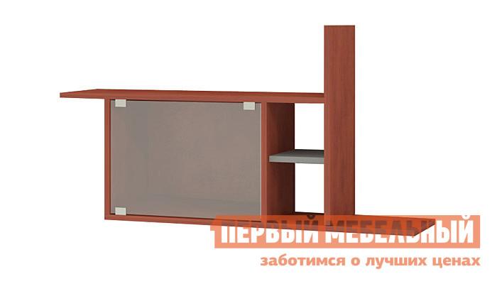 Настенная полка Мэрдэс ПК-12 + стекло Яблоня Локарно