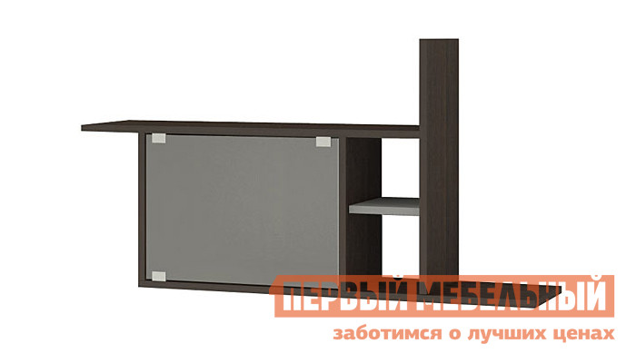 Настенная полка Мэрдэс ПК-12 + стекло Венге