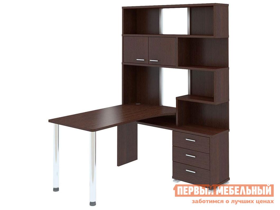 Угловой компьютерный стол с надстройкой и ящиками Мэрдэс СР-420/130