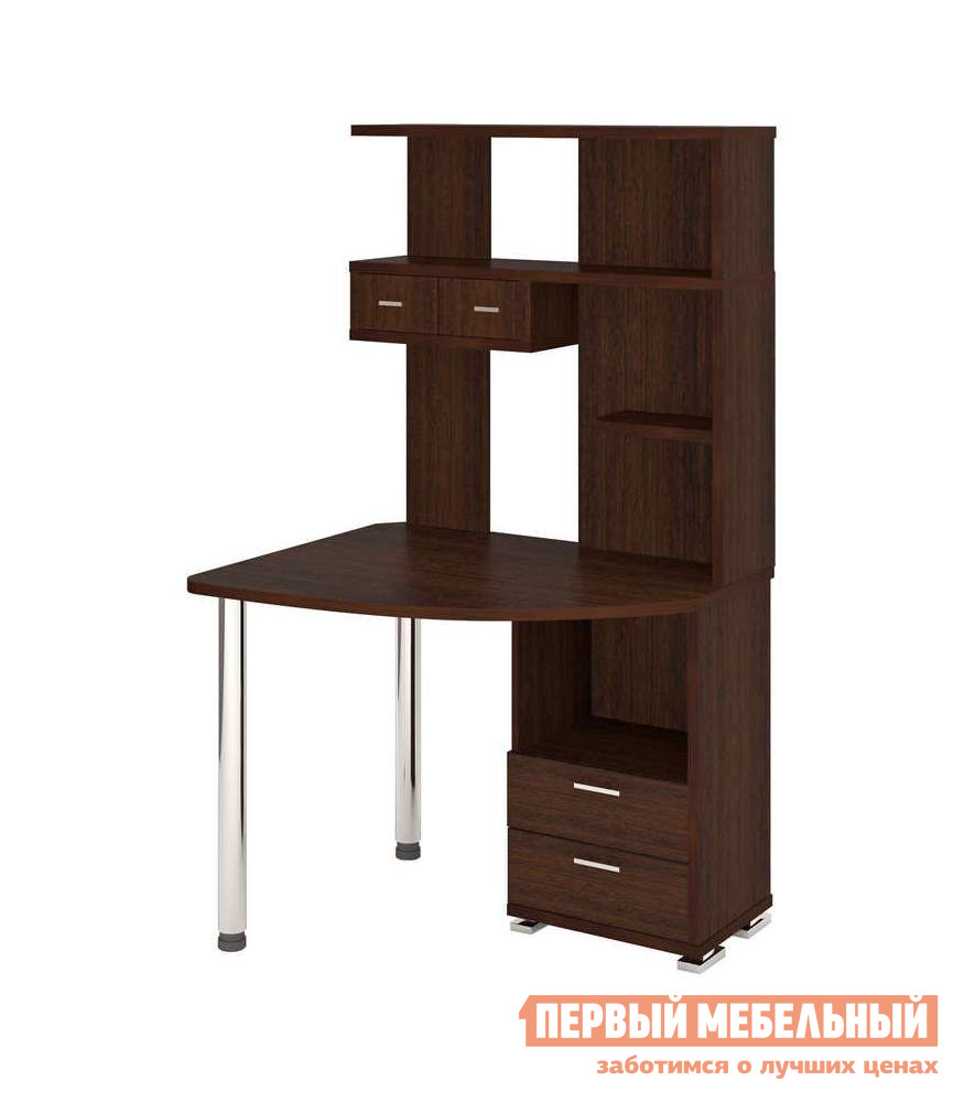 Угловой компьютерный стол с надстройкой и шкафчиками Мэрдэс СК-20