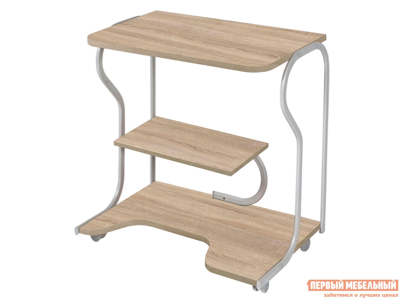 Столик для ноутбука  Практик-4 Дуб Сонома / Серебристый, металл *Вентал 123845