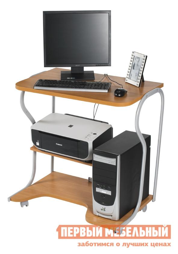 Столик для ноутбука Вентал ПРАКТИК-4 ВишняСтолики для ноутбука<br>Габаритные размеры ВхШхГ 750x790x500 мм. Комфортабельный компьютерный стол с тремя поверхностями: столешницей, куда ставится монитор, поверхностью, где располагается системный блок, и средней полкой – для размещения любой аппаратуры.  Выполнен в современном дизайне. Расстояние от средней полки размером 280х530 мм до столешницы составляет 300 мм. Ножки изготовлены из металлических трубок, покрытые серебристым покрасочным напылением.  Столешница - из качественной ЛДСП. Компактный, легко передвигается, оснащен колесиками. Допустимая нагрузка на столик составляет 50 кг.<br><br>Цвет: Красное дерево<br>Высота мм: 750<br>Ширина мм: 790<br>Глубина мм: 500<br>Кол-во упаковок: 1<br>Форма поставки: В разобранном виде<br>Срок гарантии: 2 года<br>Тип: Прямые<br>Материал: Дерево<br>Материал: ЛДСП<br>Размер: Маленькие<br>На колесиках: Да