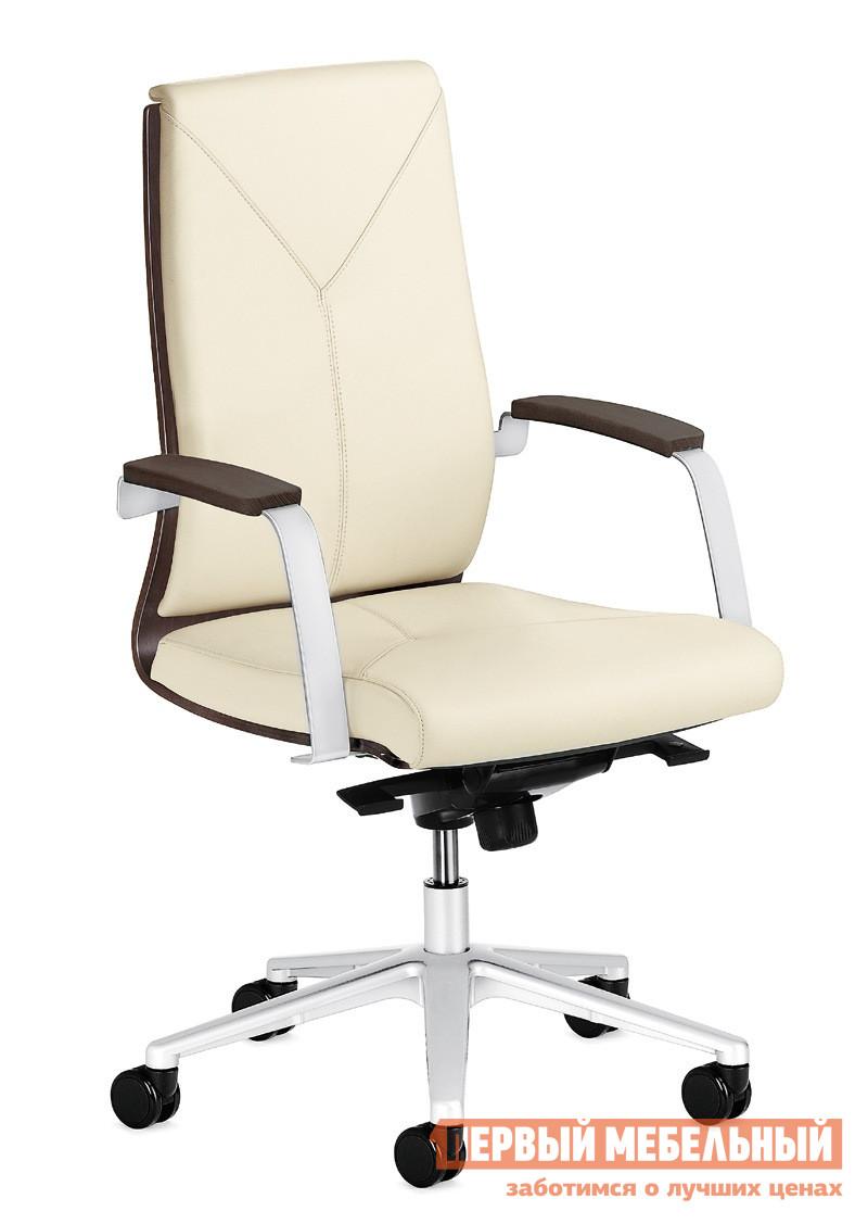 Кожаное кресло руководителя ПрофОфис MADERA/B Кресло дерев.подлок. MAO4N3C7A7 S28