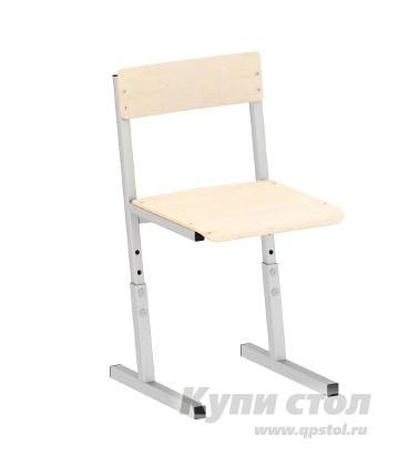Стул Витал Стул ученический регулируемый гр. 3-5, 5-7 Каркас серый, Высота 34-42 смДетские стулья<br>Габаритные размеры ВхШхГ xx мм. Стул предназначен для удобной и правильной организации учебного класса или домашней детской комнаты.  Модель имеет эргономичную спинку, которая позволяет сохранить вашему ребенку правильную осанку.  Металлический каркас представляет собой трубу прямоугольного сечения, которая окрашена износостойкой порошковой краской.  Эргономичные сиденье и спинка изготовлены из гнутоклееной фанеры, крепятся к металлическому каркасу с помощью заклепок. Стул производится для различных ростовых групп:   3-5 — рост ребенка от 130 до 160 см — высота от пола до сиденья 34-42 см;      5-7 — рост ребенка от 160 см и выше — высота от пола до сиденья 42-50 см. Обратите внимание! При оформлении заказа Вам необходимо выбрать высоту стула.<br><br>Цвет: Каркас серый<br>Цвет: Серый<br>Форма поставки: В разобранном виде<br>Срок гарантии: 2 года