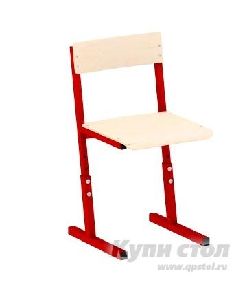 Детский стул Витал Стул ученический регулируемый гр. 3-5, 5-7 Каркас красный, Высота 42-50 см