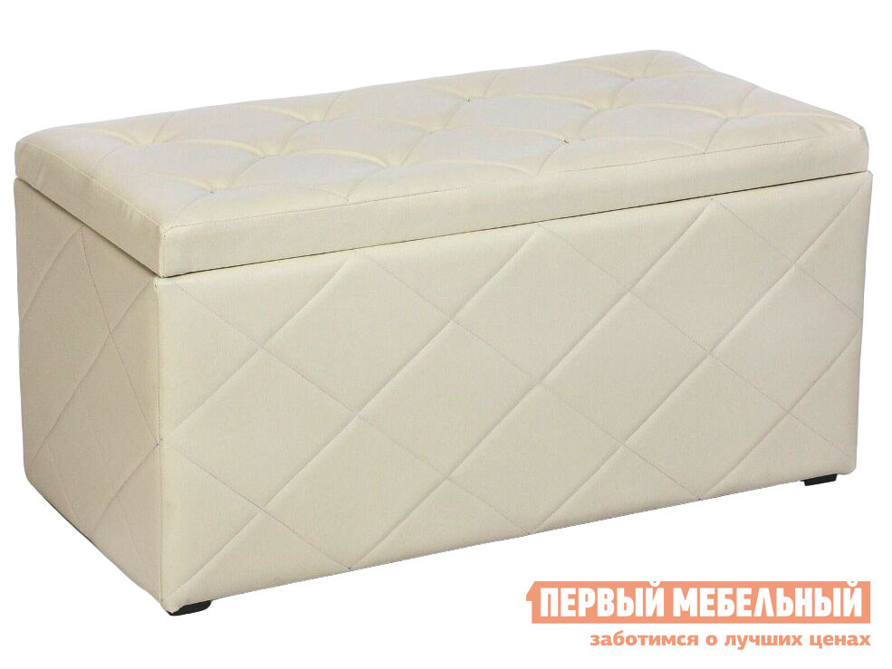Банкетка  Ромби 3 Бежевый, искусственная кожа Евросон 112049