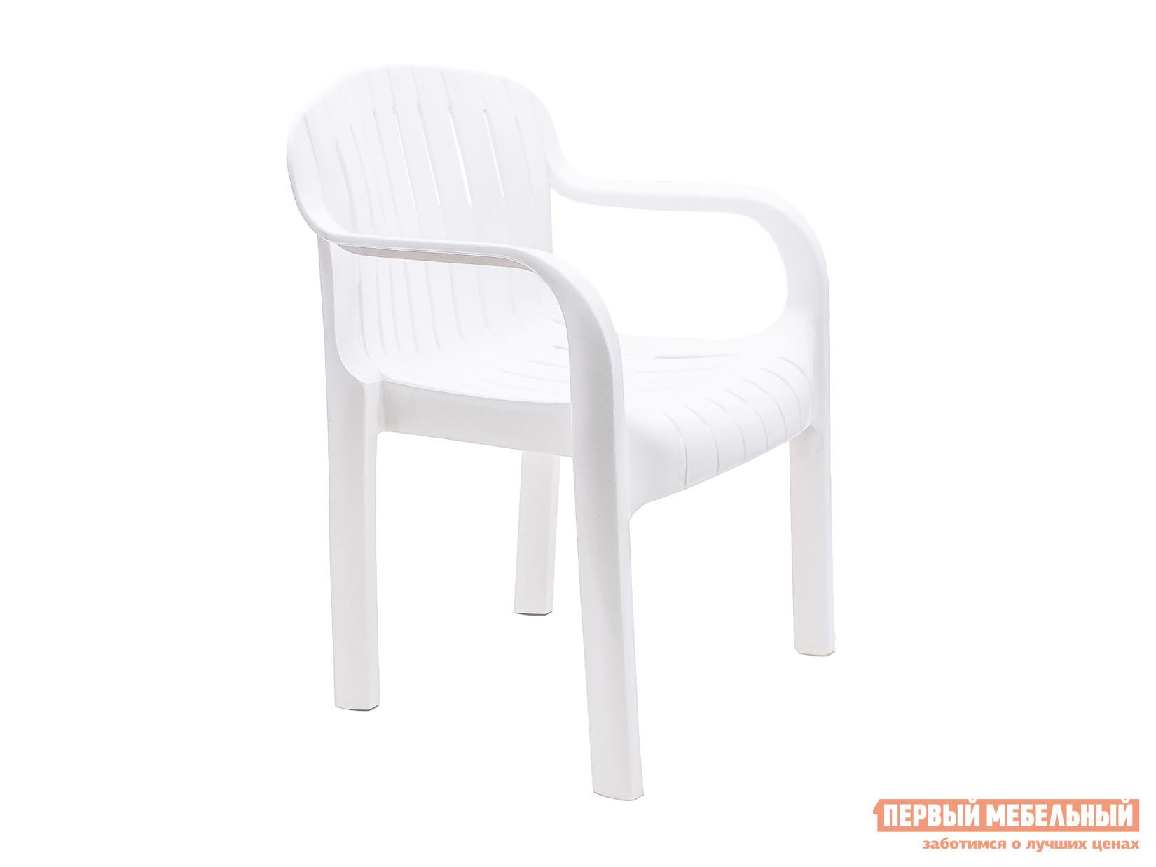 Пластиковый стул Стандарт Пластик Кресло №4 «Летнее» (610х480х810)мм Белый