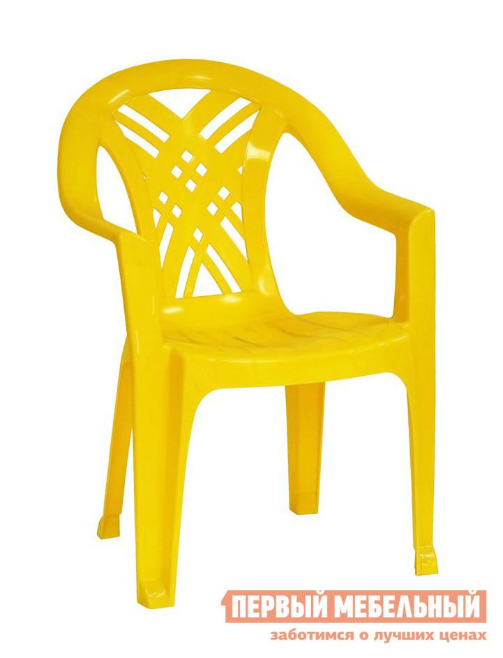 """Пластиковый стул Стандарт Пластик Кресло №6 """"Престиж-2"""" (660x600x840мм) Желтый"""