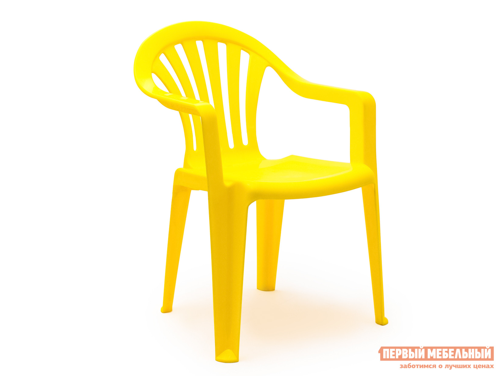 Пластиковый стул Стандарт Пластик Кресло №1 Пальма-1 (560х550х770мм) ЖелтыйПластиковые стулья<br>Габаритные размеры ВхШхГ 770x560x550 мм. Пластиковое кресло Пальма исполнено в классическом стиле.  В таком кресле удобно будет сидеть даже в самую жаркую погоду, благодаря немонолитному оформлению спинки и сидения. Конструкция стула спроектирована таким образом, что несколько стульев очень удобно хранить в виде стопки.  Изделие оборудовано подлокотниками, их функциональное назначение – сделать пребывание в кресле максимально удобным и приятным. Высота изделия от пола до сиденья составляет 38 см. Пластиковая мебель уникальна сочетанием таких качеств, как предельная легкость (чуть больше 2 кг) и повышенная прочность (легко выдерживает нагрузку до 120 кг).  Мебельные изделия демократичны, хорошо подходят для оформления дачи, зоны отдыха или летнего кафе.  Пластиковая мебель не боится перепадов температур, повышенной влажности.  Такая мебель станет верным союзником в комфортном и гармоничном отдыхе.<br><br>Цвет: Желтый<br>Высота мм: 770<br>Ширина мм: 560<br>Глубина мм: 550<br>Кол-во упаковок: 1<br>Форма поставки: В собранном виде<br>Срок гарантии: 1 год<br>С подлокотниками: Да
