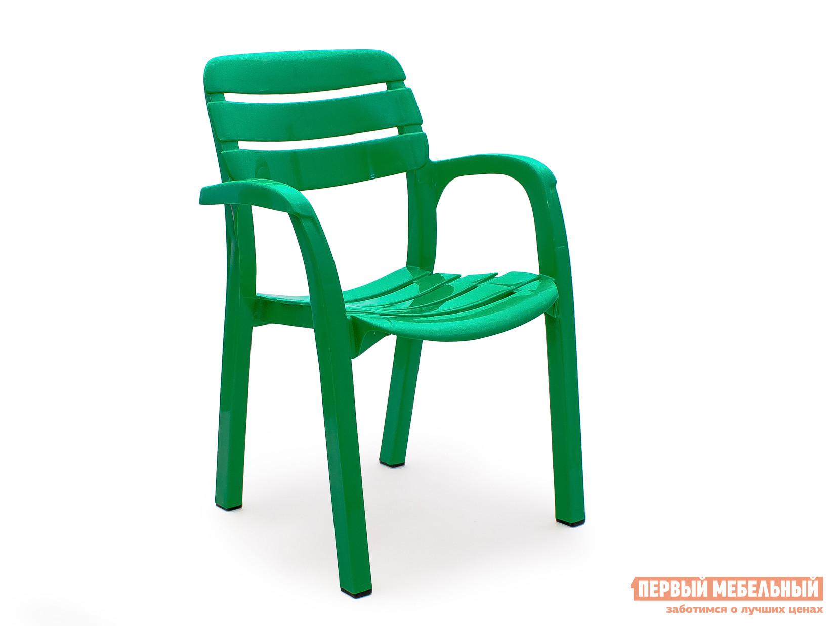 "Пластиковый стул Стандарт Пластик Кресло №3 ""Далгория"" (600х440х830мм) Зеленый"