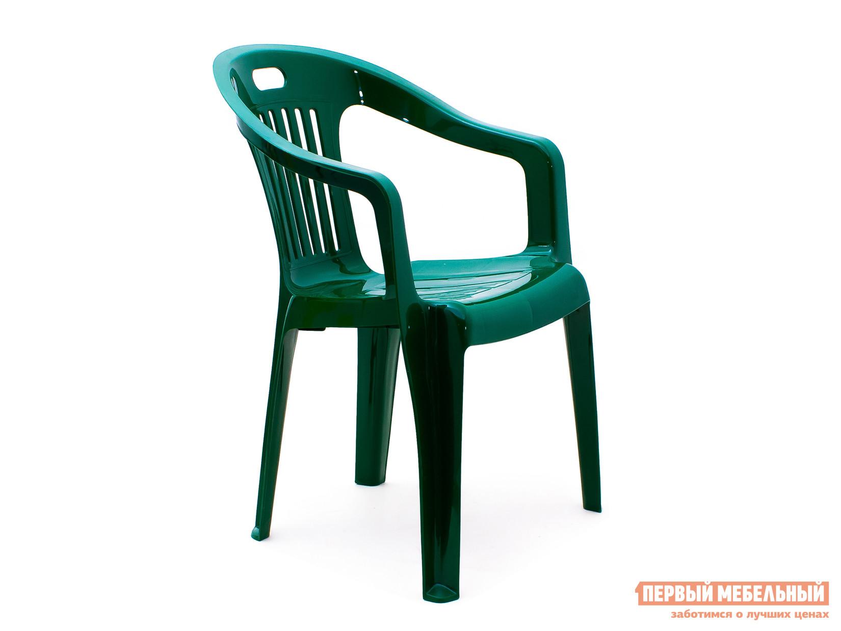 "Пластиковый стул Стандарт Пластик Кресло №5 ""Комфорт-1"" (540x535x780мм) Темно-зеленый"