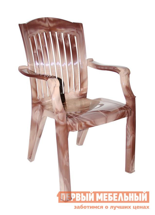 Пластиковый стул Стандарт Пластик Кресло №7 Премиум-1 (560х450х900 мм) Лессир Лессир Макоре (коричневый/бежевый)Пластиковые стулья<br>Габаритные размеры ВхШхГ 900x560x450 мм. Кажущееся массивным пластиковое кресло — удобное и практичное.  Оформление спинки кресла обеспечивает отличную вентиляцию, благодаря этому в нем удобно сидеть даже в жаркую погоду.  Изделие оборудовано подлокотниками, их функциональное назначение – сделать пребывание в кресле максимально удобным и приятным. Нетривиальное решение для пластиковой мебели — необычное цветовое решение, повторяющие мраморные или древесные рисунки.  Такая мебель добавит уютных теплых ноток в помещении и окружающую обстановку. Конструкция кресла выполнена таким образом, что несколько штук можно сложить друг на друга, освободив пространство. Пластиковые мебельные изделия демократичны, хорошо подходят для меблировки дачи, зоны отдыха или летнего кафе.  Пластиковая мебель не боится перепадов температур, повышенной влажности.  Такая мебель станет верным союзником в комфортном и гармоничном отдыхе. Максимальная нагрузка на кресло составляет 100 кг.<br><br>Цвет: Коричневый<br>Цвет: Бежевый<br>Высота мм: 900<br>Ширина мм: 560<br>Глубина мм: 450<br>Кол-во упаковок: 1<br>Форма поставки: В собранном виде<br>Срок гарантии: 1 год<br>С подлокотниками: Да
