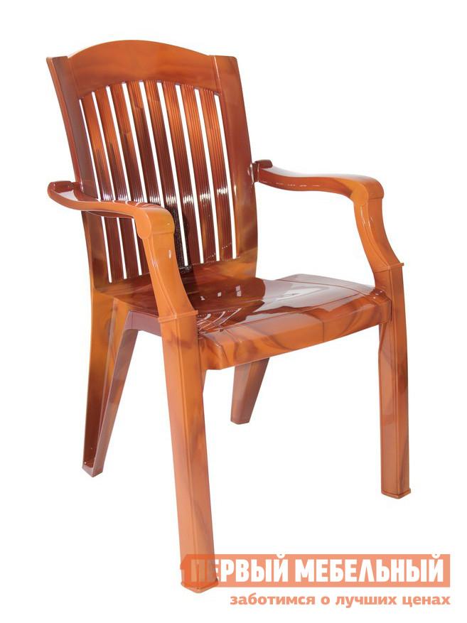 Пластиковый стул Стандарт Пластик Кресло №7 Премиум-1 (560х450х900 мм) Лессир Лессир Мербау (коричневый)Пластиковые стулья<br>Габаритные размеры ВхШхГ 900x560x450 мм. Кажущееся массивным пластиковое кресло — удобное и практичное.  Оформление спинки кресла обеспечивает отличную вентиляцию, благодаря этому в нем удобно сидеть даже в жаркую погоду.  Изделие оборудовано подлокотниками, их функциональное назначение – сделать пребывание в кресле максимально удобным и приятным. Нетривиальное решение для пластиковой мебели — необычное цветовое решение, повторяющие мраморные или древесные рисунки.  Такая мебель добавит уютных теплых ноток в помещении и окружающую обстановку. Конструкция кресла выполнена таким образом, что несколько штук можно сложить друг на друга, освободив пространство. Пластиковые мебельные изделия демократичны, хорошо подходят для меблировки дачи, зоны отдыха или летнего кафе.  Пластиковая мебель не боится перепадов температур, повышенной влажности.  Такая мебель станет верным союзником в комфортном и гармоничном отдыхе. Максимальная нагрузка на кресло составляет 100 кг.<br><br>Цвет: Коричневый<br>Высота мм: 900<br>Ширина мм: 560<br>Глубина мм: 450<br>Кол-во упаковок: 1<br>Форма поставки: В собранном виде<br>Срок гарантии: 1 год<br>С подлокотниками: Да