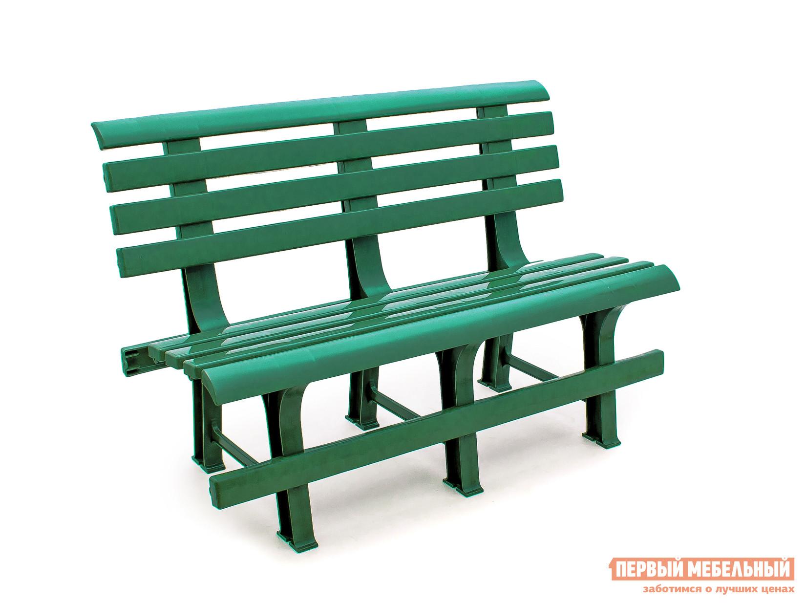Скамейка Стандарт Пластик Скамья №2 (1200х530х800) мм БолотныйСкамейки и лавочки<br>Габаритные размеры ВхШхГ 800x1200x530 мм. Подыскивая бюджетный вариант скамьи для дачи обратите внимание на модель Скамья №2.  На такой пластиковой скамье с высокой удобной спинкой можно отдохнуть между дачными делами или вечером посидеть с соседями за обсуждением новостей.  Спинка и сиденье выполняются в виде поперечных реек, такой подход обеспечивает вентиляцию, что важно в жаркий период времени.  Практичный материал исполнения позволяет разместить скамью на улице и не убирать ее в течение всего сезона.  Также пластик отличается эксплуатационными свойствами и прочностью.  Изделие готово выдержать нагрузку до 250 кг.<br><br>Цвет: Зеленый<br>Высота мм: 800<br>Ширина мм: 1200<br>Глубина мм: 530<br>Кол-во упаковок: 1<br>Форма поставки: В разобранном виде<br>Срок гарантии: 1 год<br>Тип: Со спинкой<br>Назначение: Для дачи<br>Назначение: Для сада<br>Материал: Пластик<br>Размер: Маленькие<br>Размер: Широкие<br>Без подлокотников: Да