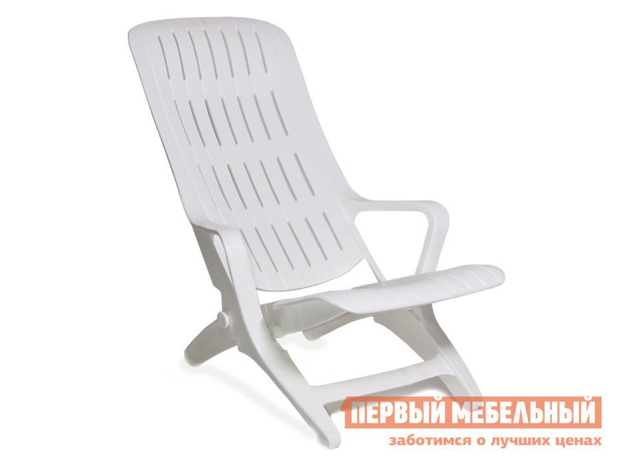 Шезлонг Стандарт Пластик Шезлонг №2 (560х770х740) мм Белый
