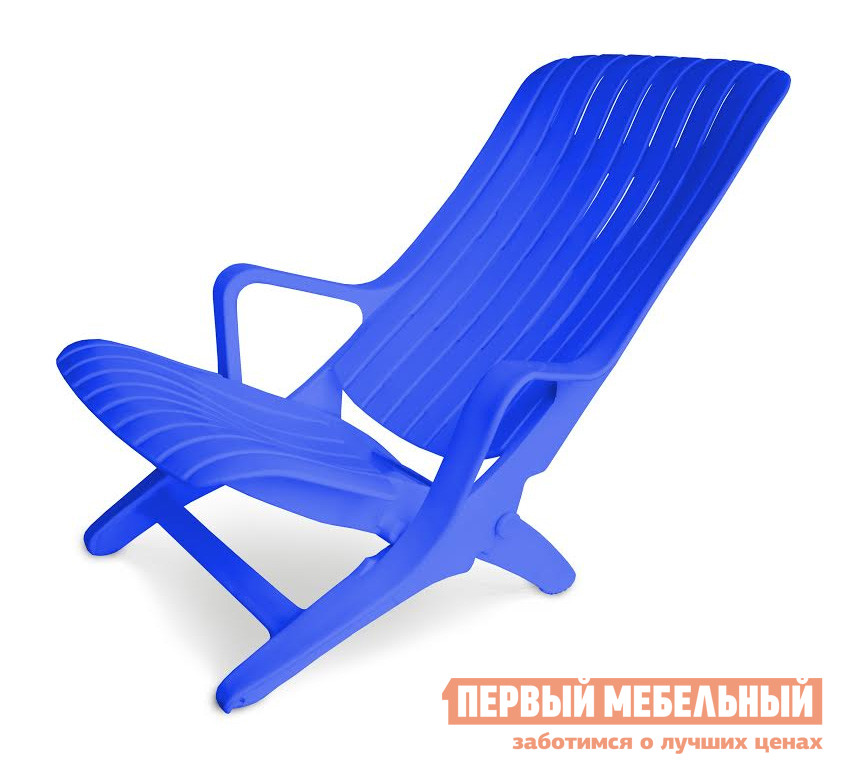 Шезлонг Стандарт Пластик Шезлонг №1 (610х900х930) мм  Синий от Купистол