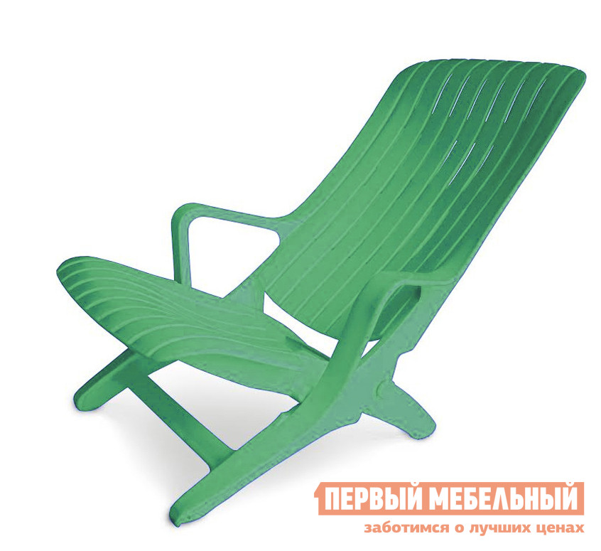Шезлонг Стандарт Пластик Шезлонг №1 (610х900х930) мм Зеленый