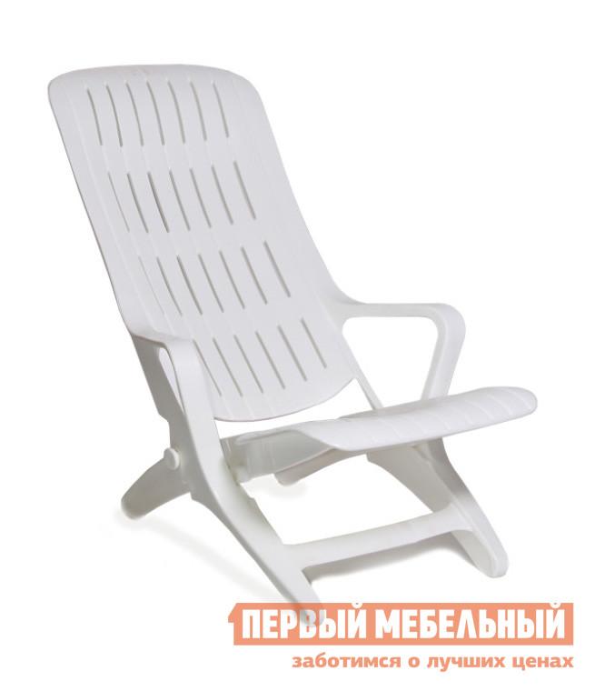 Шезлонг Стандарт Пластик Шезлонг №1 (610х900х930) мм  Белый