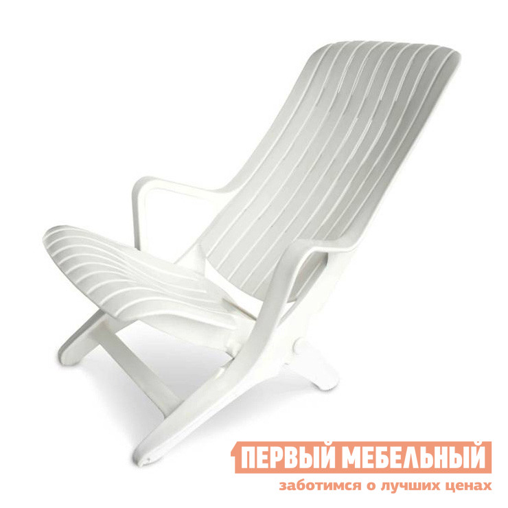 Шезлонг Стандарт Пластик Шезлонг №1 (610х900х930) мм  Белый от Купистол